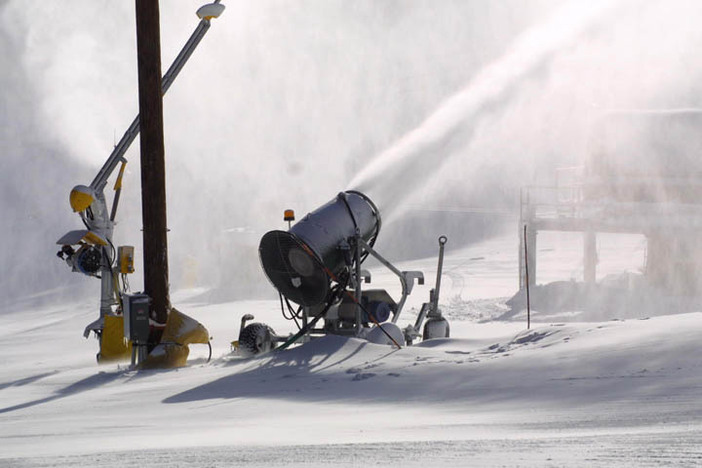 Snowmaking in full operation.