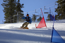Scotty competing in Giant Slalom.