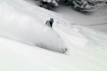 Nick blasting through the powder!