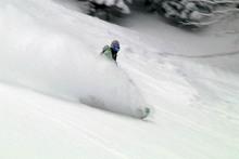 Nick blasting through the powder!