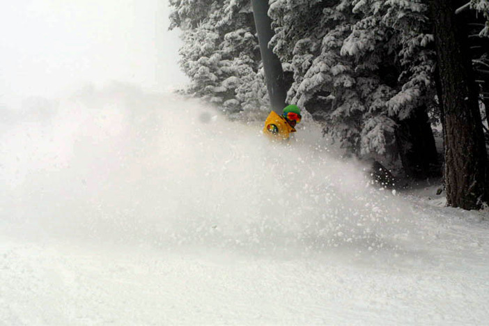 Chris getting powder slashes all day every day.