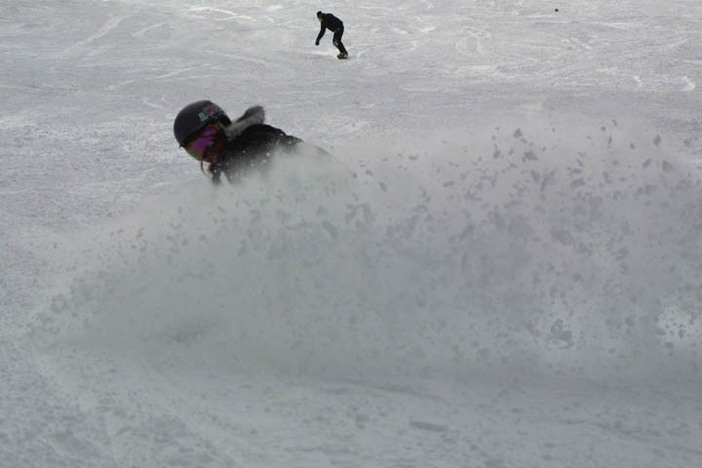 I think that's Kristina under all that powder.