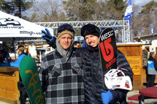Jussi Oksanen and Ikka Backstrom were up hanging out in the park yesterday!