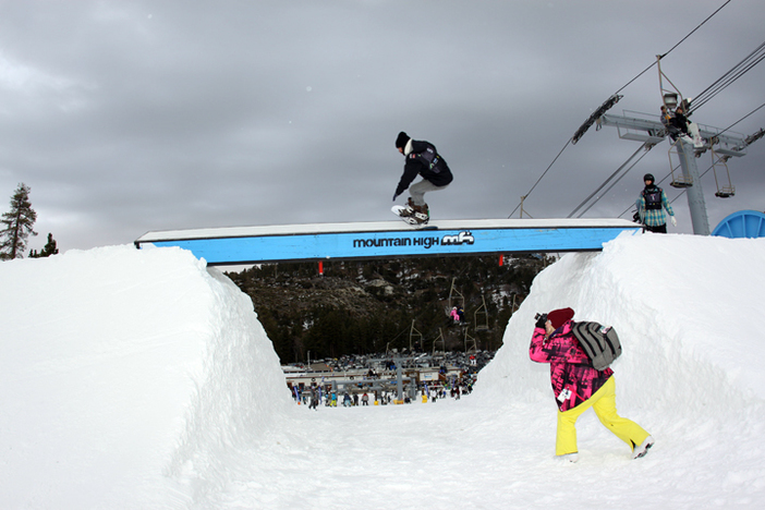 Nick Guinn going big in the Ditch Day competition.