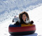 Smiles from ear to ear at the North tubing park.