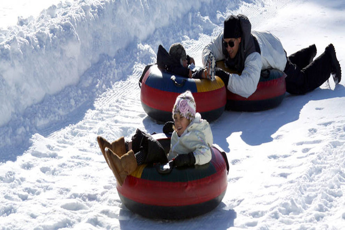 The North Pole Tubing Park is a great get-away for the family!