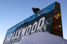Brendon Simons hitting the new Hollywood Wall Ride!