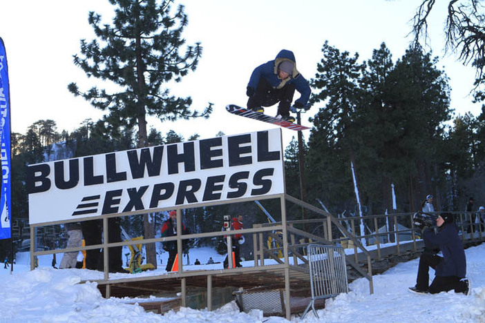 Blasting over the Bullwheel Express.