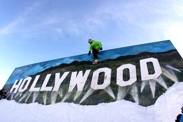 Nick Sibayan wanted to see the Hollywood wall ride up-close and personal!