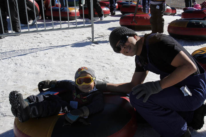 Family fun time at our North tubing park.