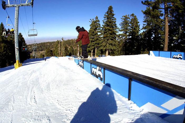 Ski slide!