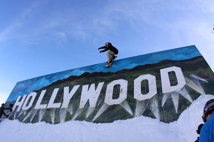 Over the hills and through the air to the HOLLYWOOD sign we go!