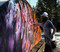 Painting the new Nike feature for the CHOSEN Rail Jam that takes place on Friday in The Playground!
