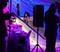 Ian Sams through the DJ booth!  Photo courtesy of George Crossland.