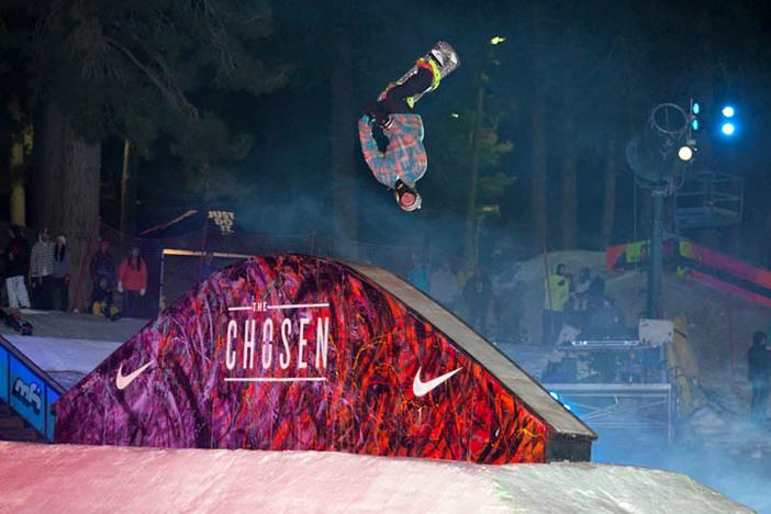 Jaeger Bailey flipping over the Rainbow Box!  Photo courtesy of George Crossland.