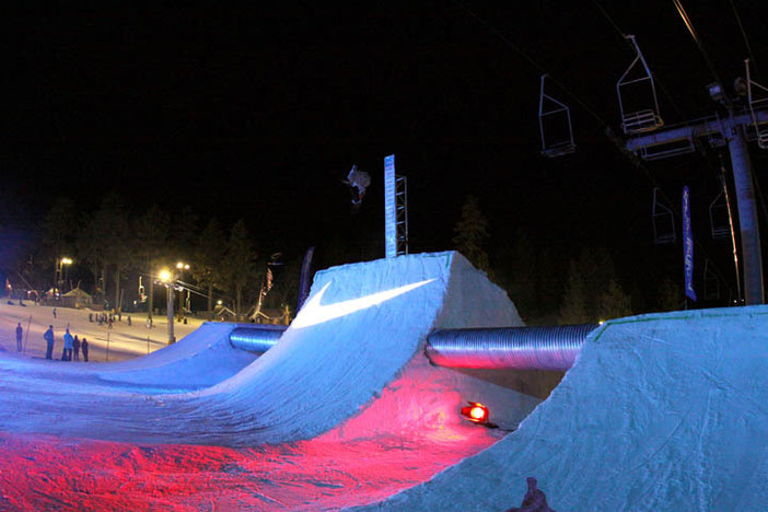Trever Haas pushing it to the limit on the Quarter Pipe!