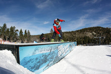 Our resident Banana was having a blast yesterday in the USASA Rail Jam comp.