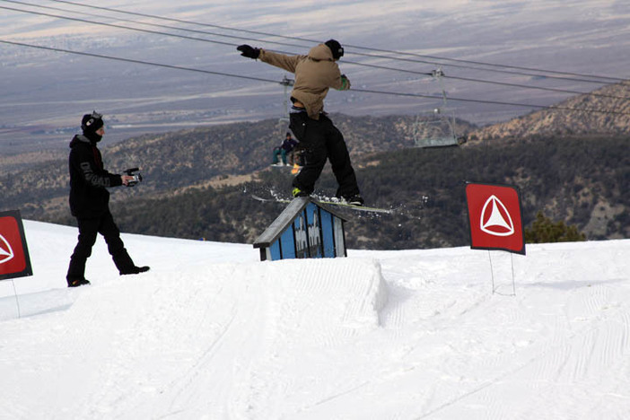 Dome hitting up the A-Frame Rail.
