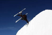 Brian Boyle with a handplant on the Quarter Pipe.