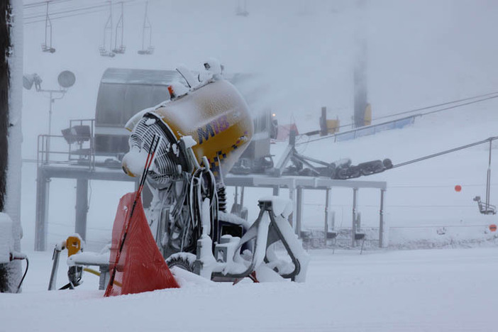 Snowmaking top to bottom at the West Resort.