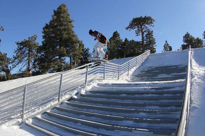 Nate Griffin making the Concert Hall handrail look easy.