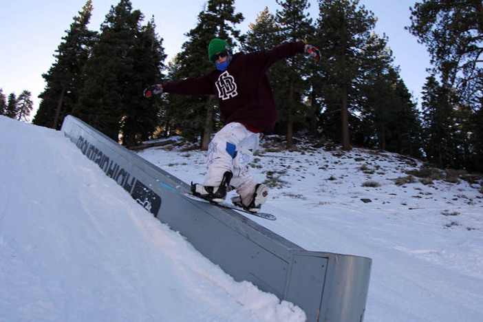 Steezy slide down the Concrete Ledge on Lower Chisolm.