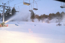 Snowmaking continues at the West Resort laying down several inches of new snow.