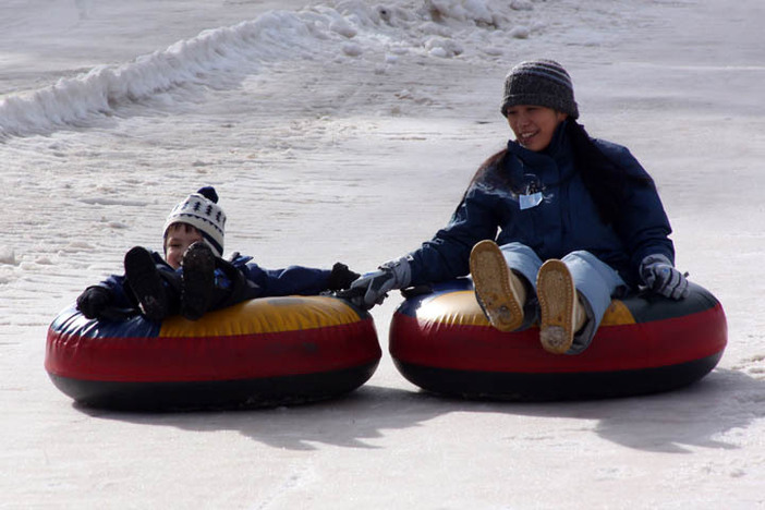 North Pole Tubing Park, open every Saturday, Sunday, and holidays.
