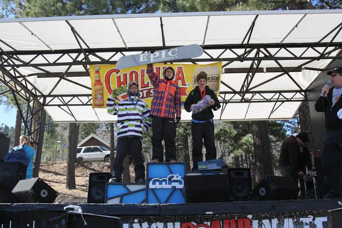 USASA winners atop the podium.