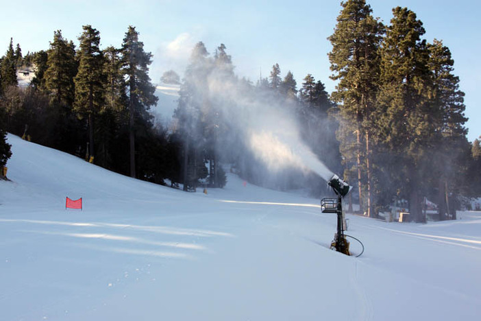Snowmaking continues for its third straight night.