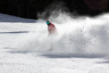Charging through the fresh machine made packed powder.