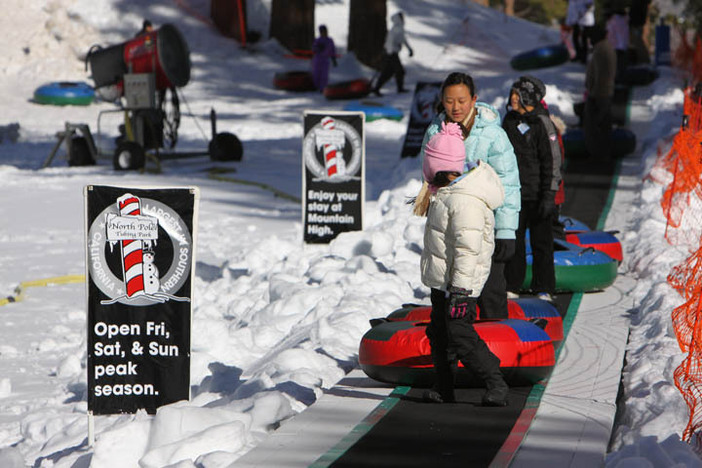 Head to the North Pole Tubing Park for some winter fun.