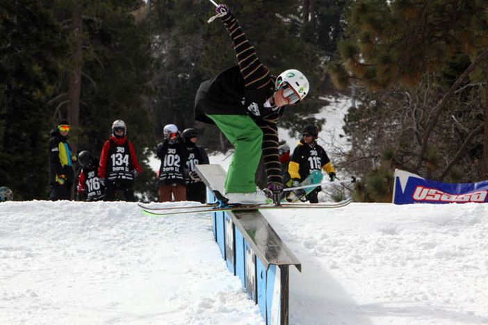 Skiers were throwing down yesterday.