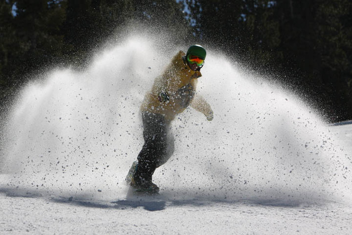 Big powder spray.