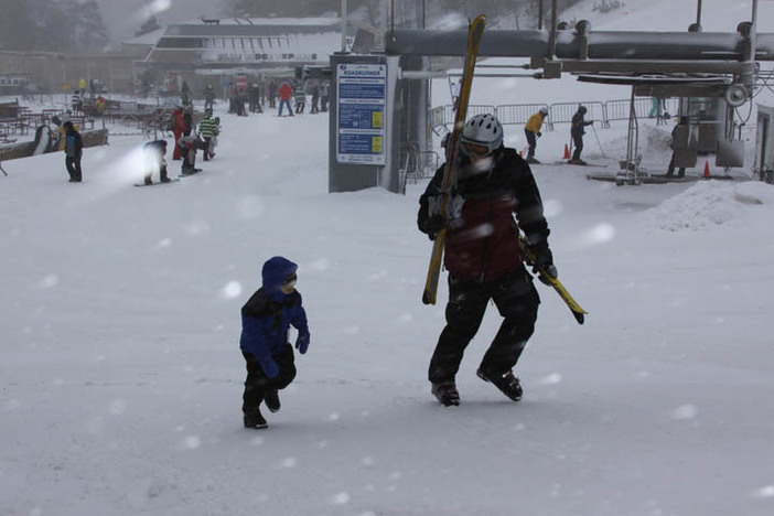Fresh snow is falling.  Time to hit the slopes.