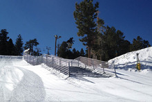 Ed gapping the Concert Hall handrail.