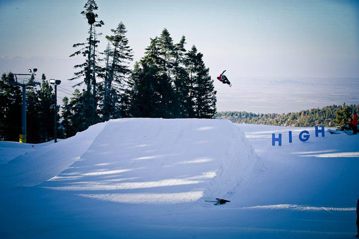 Spencer Link launching over the last jump on Pipeline.