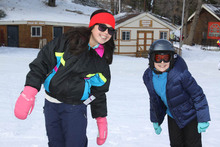 Happy faces and good times on the snow.
