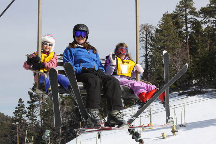 Fun times on the chair lift.