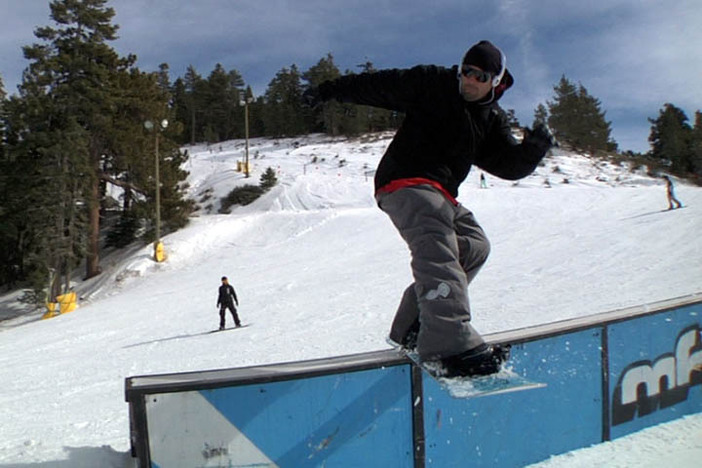 MFM front boarding the first box on Lower Chisolm.