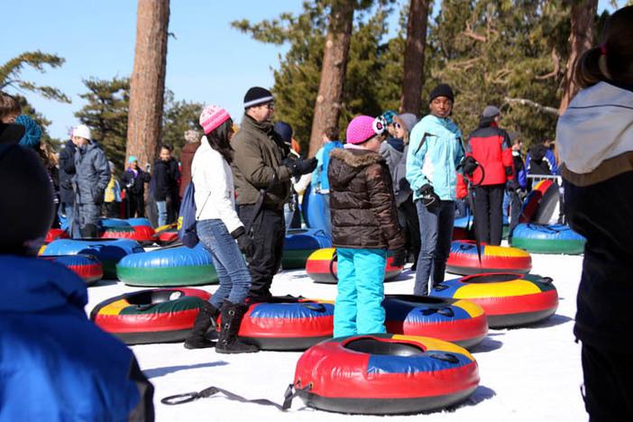 Grab a tube at the North Pole Tubing Park.
