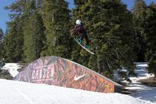 Jamie Madrid grabbing tail over the Nike Box.