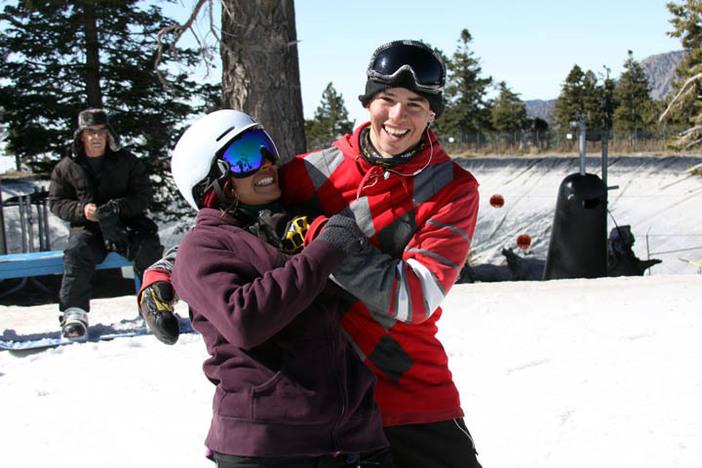 Team riders Jamie Madrid and Spencer Link horsing around.