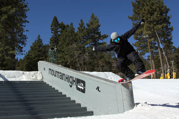 Mitch Richmond down from Mammoth to ride the park.