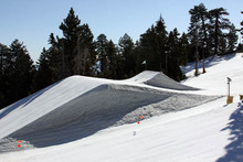 Freshly built jumps on the Wedge.