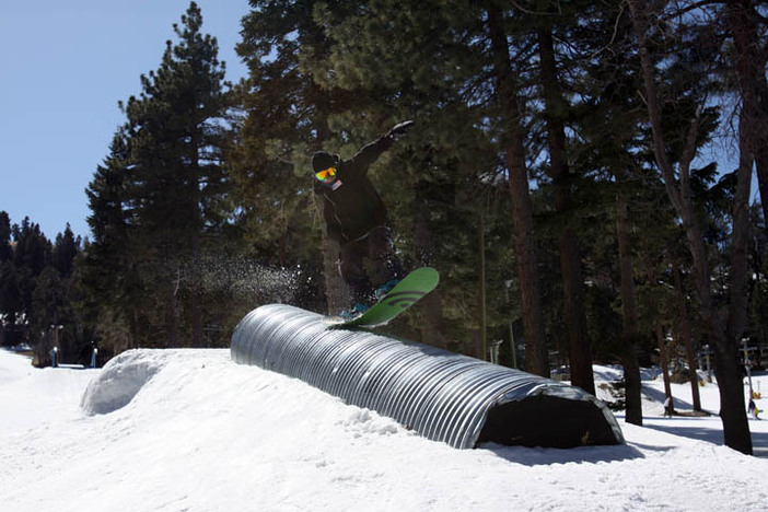 Big tail slide on the Corrugated Tube.