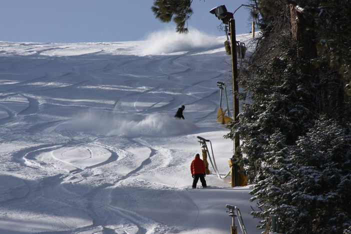 Come and ride tomorrow...FRESH POW!!!  FALLING NOW!!!