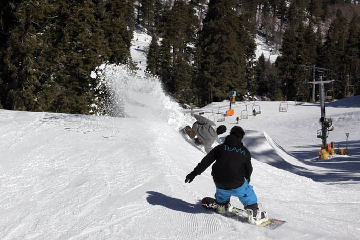 Another day shredding at Mountain High.