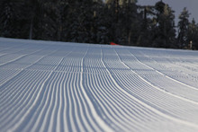Freshly groomed slopes waiting for you this morning.