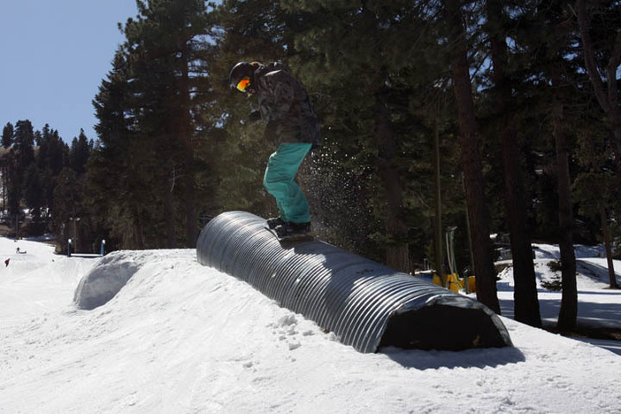 The park is so fun right now with the new snow.